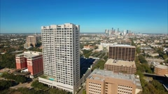 Aerial View of Museum District in Houston Stock Footage