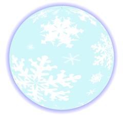 Winter Snow Globe Stock Illustration