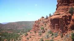 Red Mountains of Sedona hot at noon - stock footage