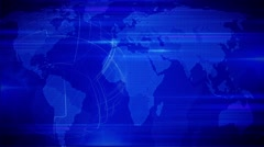 Motion Loopable Background 081, Dark Blue BG with world map globe Stock Footage