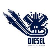 Design logo motor gasoline Stock Illustration