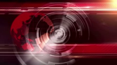 Motion Loopable Background 084, News BG Red Stock Footage