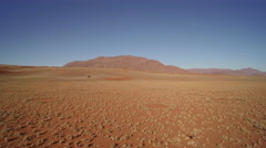 Aerial view of cliffs in Namib desert - Namibia Stock Footage