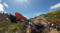 Motorbike - Off-roading on a beautiful sunny day Stock Footage