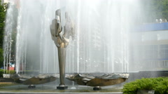 Time lapse with kinetic fountain Stock Footage