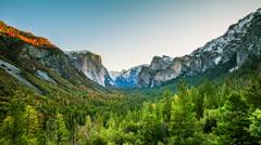 Time Lapse - Sunrise Moving Over Yosemite Valley, California, USA Stock Footage