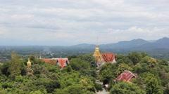Wat Phra that Doi Saket temples in Chiangmai,Thailand Stock Footage