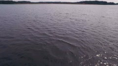 Aerial view on the big lake in the summer day Stock Footage
