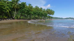A secluded beach in Costa Rica Stock Footage
