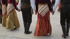 Greek traditional dance at the International Folklore Festival Stock Footage