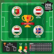 European Soccer Cup - Group F Vector Illustration Stock Illustration