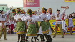 Ukrainian traditional dance at the International Folklore Festival Stock Footage