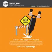 Page Not Found Error 404 Vector Illustration Stock Illustration