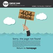 Page Not Found Error 404 Vector Illustration Stock Illustration
