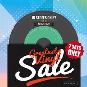 Greatest Vinyl Sale Banner Vector Illustration Stock Illustration