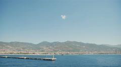 City harbor of Alanya at dawn, Antalya, Turkey - stock footage