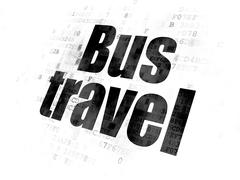Vacation concept: Bus Travel on Digital background Stock Illustration