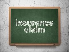 Insurance concept: Insurance Claim on chalkboard background Stock Illustration