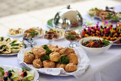 Catering service. Restaurant table with food. Huge amount of food on the tabl Kuvituskuvat