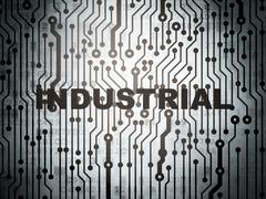 Industry concept: circuit board with Industrial Stock Illustration