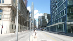 Toronto Yonge Street South Of Front Stock Footage