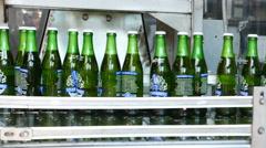 Beer Bottling Plant Belt Stock Footage