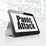 Healthcare concept: Tablet Computer with Panic Attack on display Stock Illustration