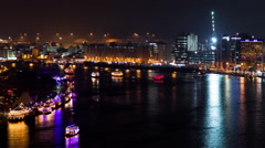 Dubai Creek Night Timelapse Stock Footage