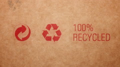 100% recycled, stop motion animation Stock Footage