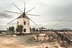 Old Spanish mill Stock Photos