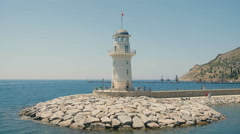 Lighthouse in Alanya, Turkey. Tourist destination Stock Footage