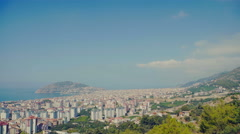 Panorama of the city of Alanya, Turkey Stock Footage