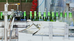 Beer Bottling Plant Brewery Stock Footage