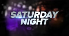Dynamic Saturday Night Title Page Background Animation	 	 Stock Footage