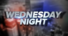 Dynamic Wednesday Night Title Page Background Animation	 	 - stock footage
