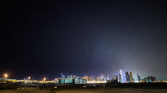 Timelapse Of United Arab Emirates At Night Stock Footage
