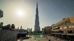 Timelapse Of Burj Khalifa - Highest Skyscraper In The World Stock Footage