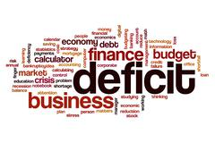 Deficit word cloud Stock Illustration