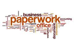 Paperwork word cloud Stock Illustration