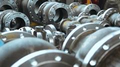 Pipeline armature closeup Stock Footage