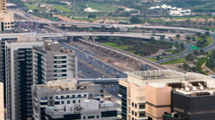Timelapse Of Interchange On Sheikh Zayed Road In Dubai Stock Footage