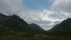 Timelapse over glencoe Stock Footage