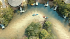 Cayaking in mangrove forest Stock Footage