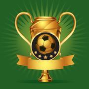 Soccer Golden award Medals. vector illustration Stock Illustration