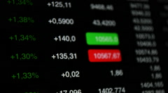 Stock market up, stock exchange data Stock Footage
