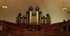 Mormon Tabernacle Missionary pipe organ DCI 4K Stock Footage