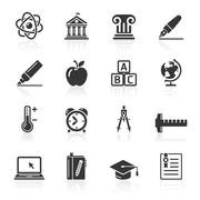 Education Icons set 2. Vector Illustration. More icons in my portfolio. Stock Illustration
