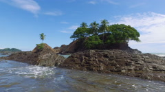 Tide comes in on a beach in Costa Rica Stock Footage