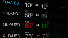 Currency stock exchange Forex Stock Footage