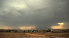 Time lapse of a beautiful massive storm over a rural landscape, with clouds Stock Footage